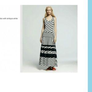 Peter Som for Design Nation Black White Maxi Dress